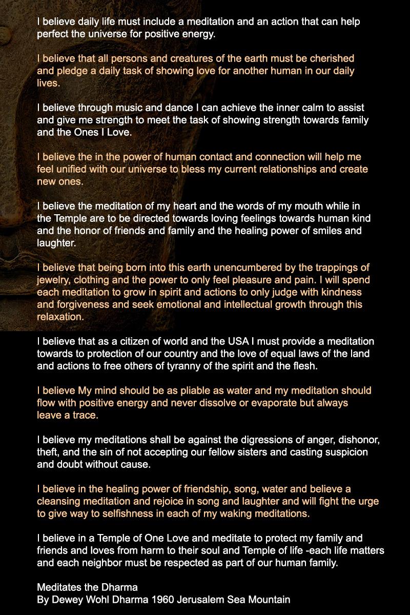 Zen Temple Las Vegas 9 Affirmations